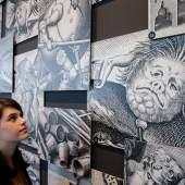 """Ausstellungsansicht """"Verkehrte Welt. Das Jahrhundert von Hieronymus Bosch"""", Photo: Ulrich Perrey"""
