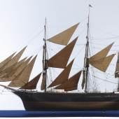 """Modell des Vollschiffes """"Austria Trieste"""", 1884"""