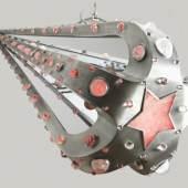 Authentique Art & Design Guillaume Piechaud Etoile Filante Luminaire metal and rock crystal_160cm L X 60cm W_2012