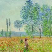 Claude Monet, Unter den Pappeln, 1887, Öl auf Leinwand, Privatsammlung.