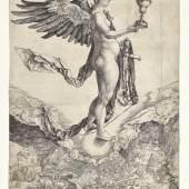 Albrecht Dürer, Nemesis (Das große Glück), um 1501 Kupferstich Dauerleihgabe Stift Stams   © TLM