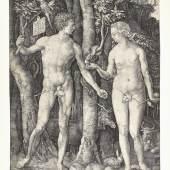 Albrecht Dürer, Adam und Eva, 1504 Kupferstich Dauerleihgabe Stift Stams  © TLM