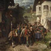 B04 Defregger Das Letzte Aufgebot 1874 Wien Belvedere