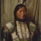 B09 Defregger Porträt Rocky Bear 1890 Privatbesitz
