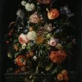 Jan Davidsz. De Heem, Früchte neben einem Blumenglase, Gemäldegalerie Alte Meister
