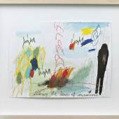 Rebecca Raue, climbing the stairs of consciousness, 2011, Aquarell, Kohle, Pastellkreide, Buntstift, Bleistift auf Papier, 24 x 32 cm, Taxe: € 1.000, Ergebnis: € 7.500