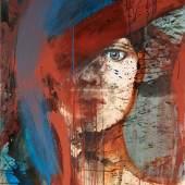 Liebstöckl 1986, Öl/Acryl auf Brikonit, 107 x 100 cm