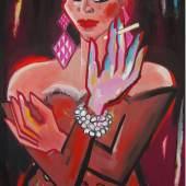 Elvira Bach | Sie tut nur so | 130 x 165 cm | 2015 | Acryl auf Leinwand