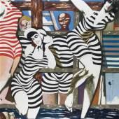 Karl Kunz: Badende, 1969, Öl auf Hartfaser, 140x120 cm , © Familie Kunz