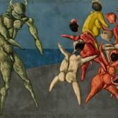 Bahman Mohasses, Il Minotauro fa Paura alla Gente per Bene, oil on canvas (est. £280,000-350,000)