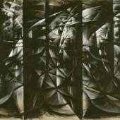 Giacomo Balla Velocità d'Automobile + Luce + Rumore, 1913 Leimfarbe auf Leinwand, 87 x 130 cm Kunsthaus Zürich © 2016 ProLitteris, Zürich