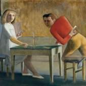 BALTHUS, LA PARTIE DE CARTES, 1948 - 1950 Öl auf Leinwand, 139.7 x 193.7 cm Museo Nacional Thyssen-Bornemisza, Madrid © Balthus