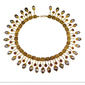 Véronique Bamps (stand 274)    1 / 2  Castellani Necklace in archaelogical revival style Gold