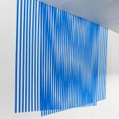 blue fall 2019 temporary installation with blue tape, ~ 220 × 700 cm @ Parallel Vienna 2019 Foto: Manuel Carreron Lopez