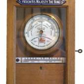 """Rare, oak-cased Contributions Box for """"The Shipwrecked Fishermen and Mariners Royal Benevolent Society"""",  Exhibitor: Alan Walker - Fine Antique Barometers"""