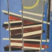Jean Leppien  Barres claires | 7/50 CIII | 1950 Öl auf Leinwand | 54 x 38 cm