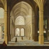 Bartholomäus van Bassen –  zugeschr.  Kircheninterieur  Öl auf Holz   64,5 x 84cm  Schätzpreis: 30.000 –  40.000 Euro