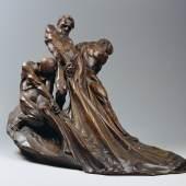 Franz Barwig d. Ä. Die Netzzieher, 1904 Holz, patiniert 44 x 64 x 52 cm © Belvedere, Wi
