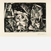 Galerie Bastian (stand 529)    1 / 2  Pablo Picasso (Málaga 1881-1973 Mougins) Minotaure aveugle guidé par une fillette dans la nuit(Blind Minotaur Led by a Little Girl in the Night)