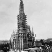 Bau der Herz-Jesu-Kirche, Fotograf: Leopold Bude, 1887, Universalmuseum Joanneum/Multimediale Sammlungen