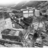 Errichtung des Wasserkraftwerks Kaprun, um 1940 Schwarz-weiß Fotografie © Sammlung Verbund, Bildarchiv