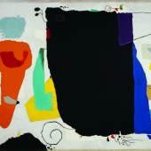 Willi Baumeister: Phantom mit roter Figur, 1953 Öl mit Kunstharz auf Hartfaserplatte, 100 x 130 cm Privatsammlung Foto: Archiv Baumeister © VG Bild-Kunst, Bonn 2017