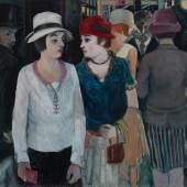 Fritz Burkhardt: Nächtliche Straße, 1927, Foto: Annette Kradisch