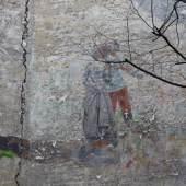 Hof-Brandwandbild im Mietshaus in der Fichtestraße 2 in Berlin-Kreuzberg