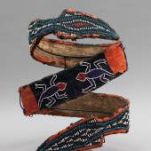 Beaded Double Headed Snake Belt, Grassland people,Cameroon