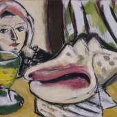 Max Beckmann (1884-1950) Stillleben mit großer Muschel, 1939 Öl auf Leinwand, 50 x 81 cm The Baltimore Museum of Art, Gift of William Dickey, Jr., BMA 1955.77 © VG Bild-Kunst, Bonn 2014