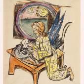 Max Beckmann, Apokalypse - Gott wird abwischen alle Tränen, 1942, Lithographie aquarelliert, Staatsgalerie Stuttgart. © VG Bild-Kunst, Bonn 2014
