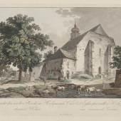 Kirche St. Michael in Heiligenstadt; kolorierte Radierung von Lorenz Janscha; um 1810 – © Österreichische Nationalbibliothek