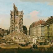 Bernardo Bellotto, Die Ruinen der Kreuzkirche in Dresden, 1765, Öl auf Leinwand, 84,5 x 107,3 cm, Kunsthaus Zürich, Stiftung Betty und David Koetser