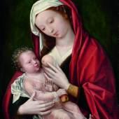 3013 WILLEM BENSON (Brügge 1521/22-vor 1574 Middelburg) Maria mit dem Kind. Öl auf Holz. 66 x 49,4 cm.. CHF 200 000 / 300 000