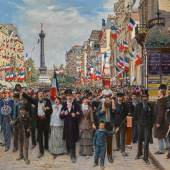 Jean Béraud, La Marseillaise. Estimate $400,000–600,000. To be offered in Sotheby's European Art sale on 24 May in New York.