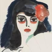 GALERIE DE LA BÉRAUDIÈRE  PORTRAIT OF A SPANISH GIRL  Portrait of a Spanish girl Kees Van Dongen (Delftshaven 1877 - 1968 Monaco) Gouache on paper 48,5 x 41,5 cm