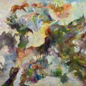 Bernard Schultze  launige Blumenschlacht | 1997 | Öl auf Leinwand | 200 x 250cm