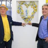 B.U.: Bernd Schwarzer und Prof. Dr. Heiner Barz, Professor für Erziehungswissenschaften an der Heinrich-Heine-Universität Düsseldorf  Fotograf: Reiner Kaltenbach