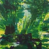 Bernd Zimmer, Kristallwelt, Farblithografie auf Bütten, 2005; 58&73 cm. Ex.:10/12. Preis 1.300 €, mit Rahmen (Mirogardglas UV70) 1.540 €.