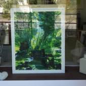 Ausstellung Grün kommt zu Ihnen nach Hause: Bild Nr. 1 steht im Schaufenster.