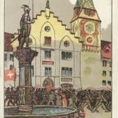 Postkarte des Zuger Infanterie-Bataillons 48 © Bibliothek Zug