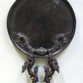 Bronzespiegel mit Figur Khmer, Angkor Vat