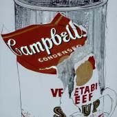 Andy Warhol (1928–1987) Big Torn Campbell's Soup Can (Vegetable Beef), 1962 Kasein, Goldfarbe und Bleistift auf Leinwand 182.9 x 135.9 cm Kunsthaus Zürich Photo: Kunsthaus Zürich