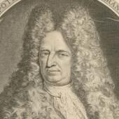 Porträt Eberhard von Danckelmann, Kupferstich eines unbekannten Künstlers, 1692 (Ausschnitt). Foto: Museen Burg Altena, CC-BY-NC-SA