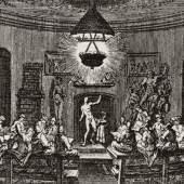 Aktsaal der Kunstakademie, Kupferstich von Christoph Weigel nach Augustin Terwesten, 1697. Foto: Akademie der Künste, Berlin, Archiv