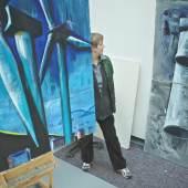 Brigitte Nolden in ihrem Atelier