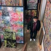 Wolfgang Denk im Stadel-Atelier, 2020, Foto: Martha Denk, © DENK ART
