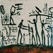 A.R. Penck (eigentlich Ralf Winkler), Weltbild, 1961 Kunsthaus Zürich, Vereinigung Zürcher Kunstfreunde © 2011 ProLitteris, Zürich, Bilderwahl! Encoding Reality 11. November 2011 - 12. Februar 2012