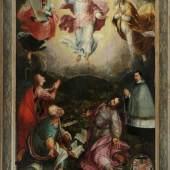 "Bildnismaler des 17. Jh. , Italien Öl/Nadelholz, 179 x 119 cm, "" Verklärung Jesu auf dem Berg Tabor mit den Propheten  Mindestpreis:8.000 EUR"