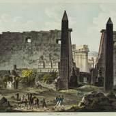 Faszination Ägypten - Theben. Ansicht des Luxortempels von Norden © Residenzgalerie Salzburg